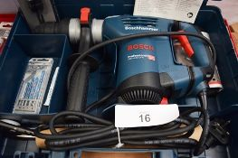 1 x Bosch Professional rotary drill, model GBH4+-32 DFR, 240V, with lots of accessories, manual