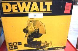 1 x DeWalt cut off saw, model D28710, 230V, in original box - Grade B (ES10)