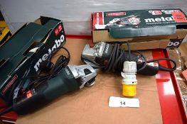 1 x Metabo angle grinder, model W9-115, 110V, together with 1 x Metabo angle grinder, model W9-