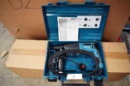 1 x Makita rotary hammer/combination hammer, model HR2610, 240V with manual and case - Untested (