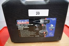 1 x Sealey 18V cordless nut riveter/impact driver, model CP315 with 1 x 18V 3.0Ah battery,