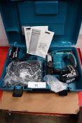 1 x Makita 18V cordless stapler, model BST221RFE with 2 x 18V 3.0Ah batteries, charger, safety