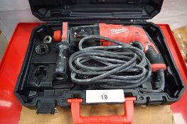 1 x Milwaukee rotary hammer, model PH27X, 240V, in original case, together with 2 x Milwaukee