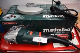 1 x Metabo angle grinder, mod3el W22-230MVT dead man's switch, 240V, 2200W, with manual and original