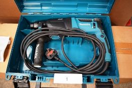 1 x Makita AVT rotary drill, model HR2611F, 240V, with instruction manual and case - Untested (