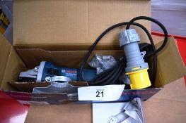 6 x Bosch Professional GWS angle grinders, model GWS 750, 110V - Second-hand (ES10)
