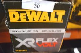 1 x DeWalt 54V lithium ion brushless flex volt alligator saw, model DCS397 with 1 x XR flex volt