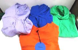 3 x Pangaia cropped hoodies size small and 1 x Pangaia cropped sweat, size small - New (1B)