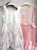2 x Monsoon children's party perfect frocks, 1 x 11yrs and 1 x 9yrs, combined RRP £150.00 - New with