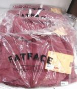 4 x Fat Face St. Ives hoodies, 1 x size 8, 1 x size 10 and 2 x size 14 - Sealed new in pack
