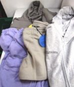 5 x items of Pangaia clothing comprising 1 x zip hoodie, size small, 1 x sweat, 1 x hoodie, 1 x pair