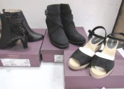 3 x pairs of Carvela ladies footwear comprising 2 x ankle boots, size EU 40 and EU36 and 1 x pair of