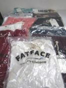 12 x Fat Face adult t-shirts in a good selection of sizes - Sealed new in pack (1B)
