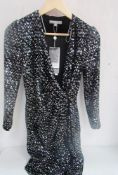 1 x Fenn Wright Manson Bibi knee length sequin dress, size 8 - New with tags (1A)
