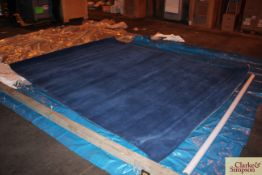 275cm x 350cm square blue 100% Indian wool rug (C9).