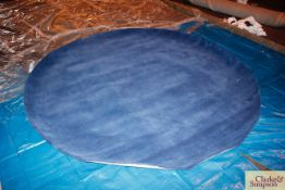 250cm circular blue 100% Indian wool rug (C5).
