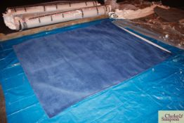 200cm x 250cm blue 100% Indian wool rug (C3).