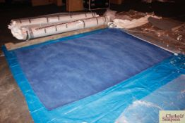 200cm x 300cm blue100% Indian wool rug (C2).