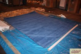275cm x 350cm square blue 100% Indian wool rug (C8).