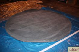 300cm round grey 100% Indian wool rug (C10).