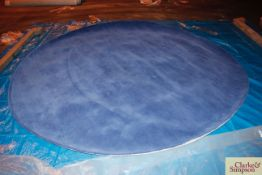 300cm circular blue 100% Indian wool rug (C4).