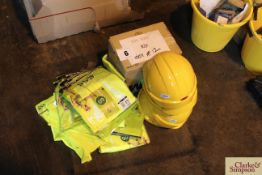 Quantity of PPE to include hi-viz waistcoats, hard hats and safety glasses.