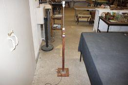 An Art Deco design chrome mounted standard lamp