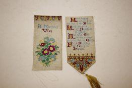 """A silk work bookmark """"A Birthday Wish"""" AF"""