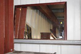 A mahogany effect mirror