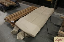 3x Teak 6ft garden benches, ready for assembly.