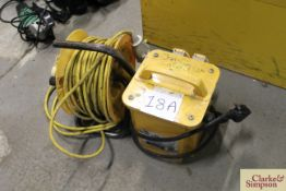 Electrical transformer with an extension cable.