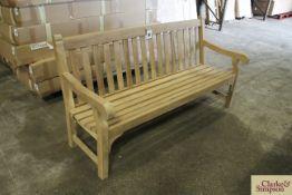 Assembled Bucklesham Teak 6ft bench.