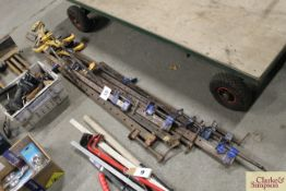 Large quantity of large sash clamps and others.