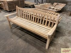 1x assembled Teak 6ft bench and components for a further 7 benches.