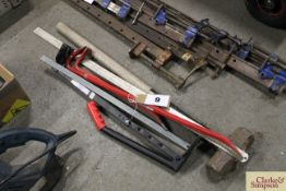 Quantity of various long handled tools.