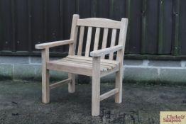 Assembled Bristol Teak armchair.