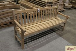 1x assembled Teak 6ft bench and components for a further 11 benches.