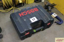 Bosch 110v 4½in angle grinder in case.