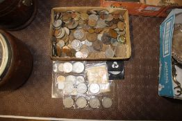 A quantity of various silver and copper coinage