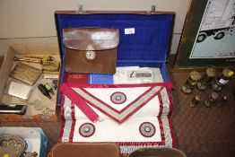A quantity of Masonic Regalia in case