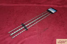3x 600mm SDS drills.*