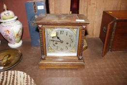 An Edwardian 8 day mantel clock incomplete