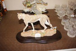 "A Country Artists figure of a cheetah ""Agile Spiri"