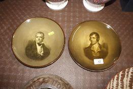 A pair of Ridgways portrait plates