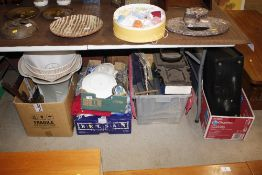A large quantity of miscellaneous china, glass, t