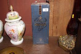 A bottle of Johnny Walker blue label Scotch whisky