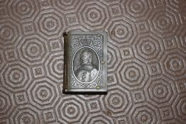 An Edward VII vulcanite commemorative vesta case