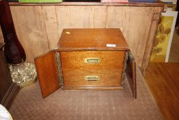 A late Victorian mahogany two drawer stationery ne