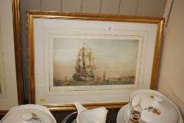 """A coloured print of His Majesty's ship """"Royal Will"""