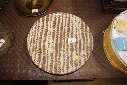 A slipware type terracotta dish